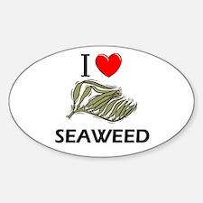 I Love Seaweed Oval Decal