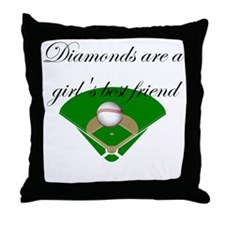 Diamonds are a girl's best fr Throw Pillow