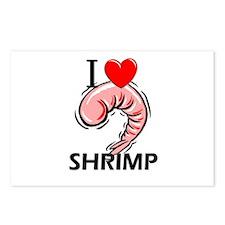 I Love Shrimp Postcards (Package of 8)