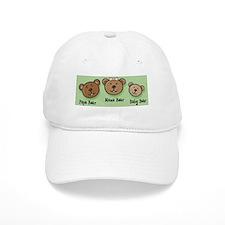 Three Bears Baseball Cap (White or Khaki)