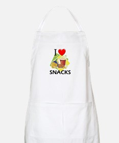I Love Snacks BBQ Apron