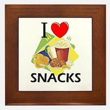 I Love Snacks Framed Tile