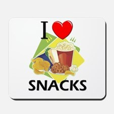 I Love Snacks Mousepad