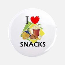 "I Love Snacks 3.5"" Button"