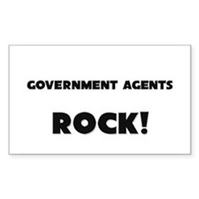Government Agents ROCK Rectangle Decal