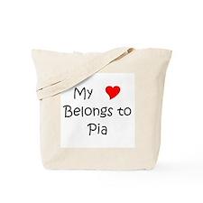 Cute My heart belongs chef Tote Bag