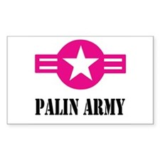 PALIN ARMY Rectangle Decal