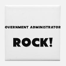 Government Administrators ROCK Tile Coaster
