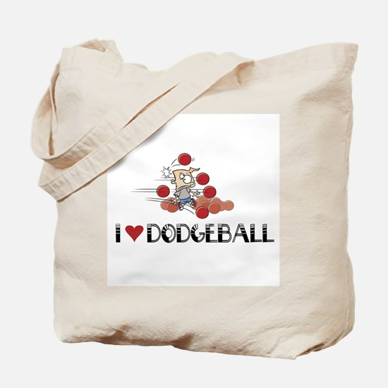 I love dodgeball Tote Bag