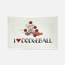 I love dodgeball Rectangle Magnet