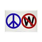 Peace Sign Slash Through W Magnet