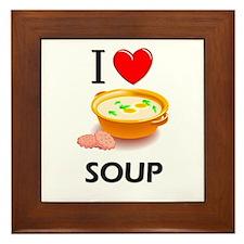 I Love Soup Framed Tile