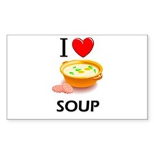I Love Soup Rectangle Decal