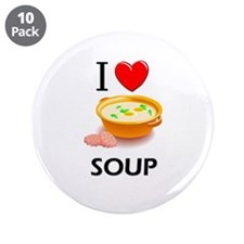 "I Love Soup 3.5"" Button (10 pack)"