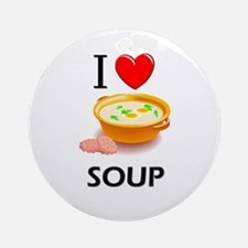 I Love Soup Ornament (Round)