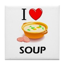 I Love Soup Tile Coaster