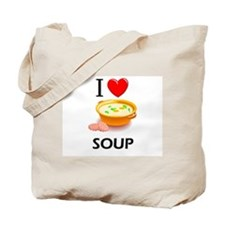 I Love Soup Tote Bag