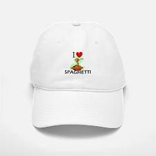 I Love Spaghetti Baseball Baseball Cap