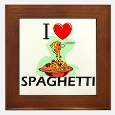 I Love Spaghetti Framed Tile