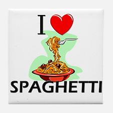 I Love Spaghetti Tile Coaster