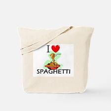 I Love Spaghetti Tote Bag
