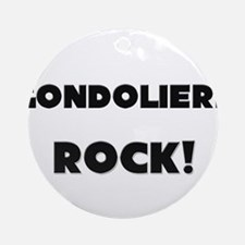 Gondoliers ROCK Ornament (Round)