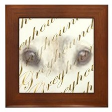 GREYHOUND IN GOLD CUSTOM FRAMED TILE PICTURE