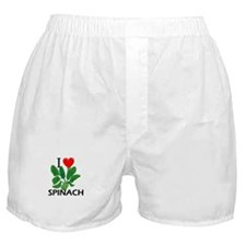 I Love Spinach Boxer Shorts