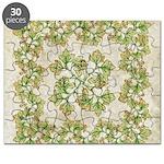 Decorative Leaf Pattern Puzzle