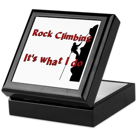 Rock Climbing Keepsake Box