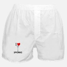 I Love Sporks Boxer Shorts