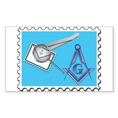 Stamp Collecting Mason Rectangle Decal