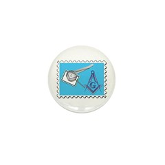 Stamp Collecting Mason Mini Button (100 pack)