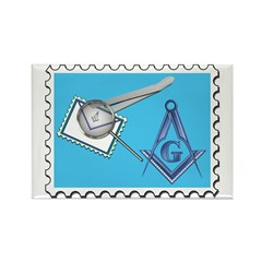 Stamp Collecting Mason Rectangle Magnet