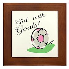 Girl with Goals Framed Tile