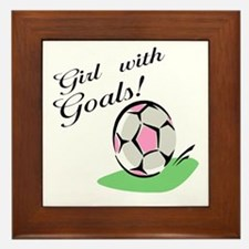Girl with Goals Framed Tile
