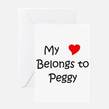 Unique Peggy Greeting Card