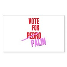 VOTE FOR PALIN Rectangle Decal