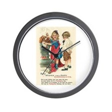 Thanksgiving Blessings Wall Clock