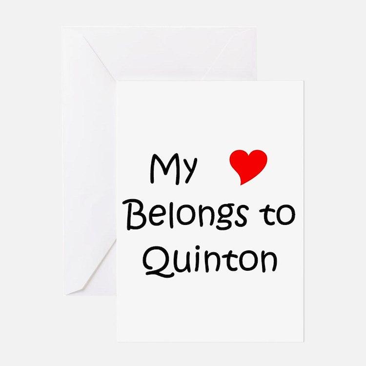 Cute Quinton Greeting Card