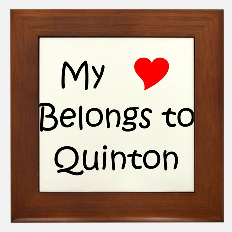 Cute Quinton Framed Tile