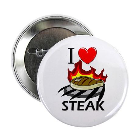"I Love Steak 2.25"" Button (10 pack)"