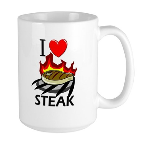 I Love Steak Large Mug