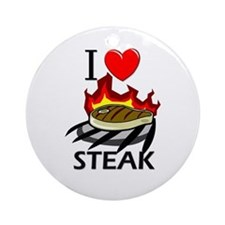I Love Steak Ornament (Round)