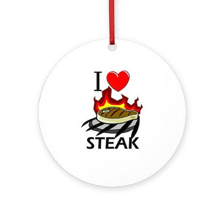 I Love Steak Ornament (Round)