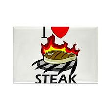 I Love Steak Rectangle Magnet