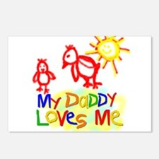 My Daddy Loves Me (Chicks) Postcards (Package of 8