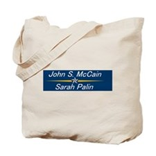 John S. McCain & Sarah Palin Tote Bag
