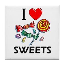 I Love Sweets Tile Coaster