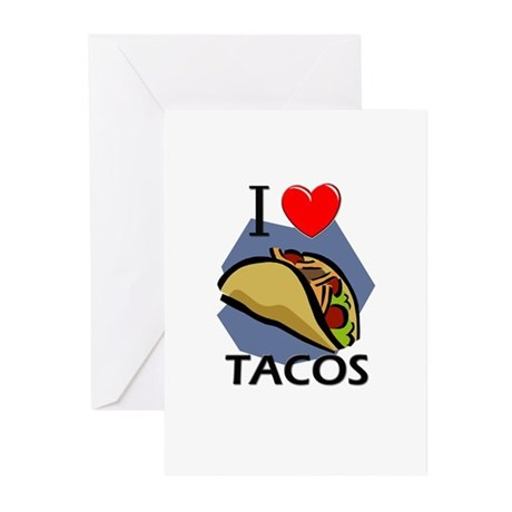 I Love Tacos Greeting Cards (Pk of 10)